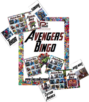 Marvel's Avengers Bingo | Fun Classroom Game