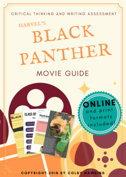 Marvel's Black Panther Movie Packet & Guide + Activities + Sub Plan