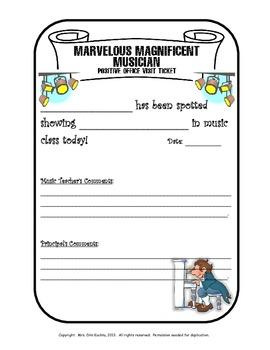 Marvelous Magnificent Musician - Positive Office Visit Ticket