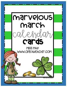 Marvelous March Calendar Cards