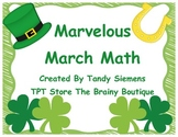 Marvelous March Math:  Centers and Activities for St. Patr