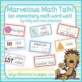 Marvelous Math Talk! {an elementary math word wall}