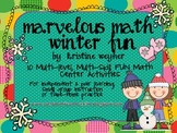 Marvelous Math Tubs ~ Winter Fun ~ 10 hands-on, engaging center activities