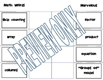Math Words and Definitions - Open the Flaps! (editable)