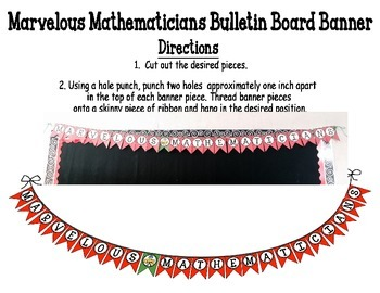 Marvelous Mathematicians Bulletin Board Banner