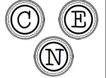 Marvelous Me! Letters *Bonus* Center/Math Station Letters for Jen!