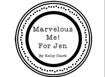 Marvelous Me! Letters *Bonus* Center/Math Station Letters