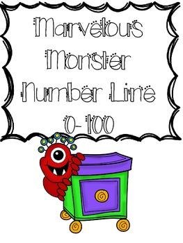 Marvelous Monster 0-100 Number Line