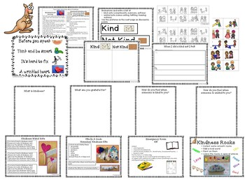 KIND--Classroom Full of Kindness Freebie-Kiddos Connect to Kindness All-Year