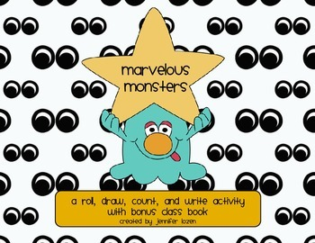 Marvelous Monsters:  A Primary Count and Write Integrated Activity