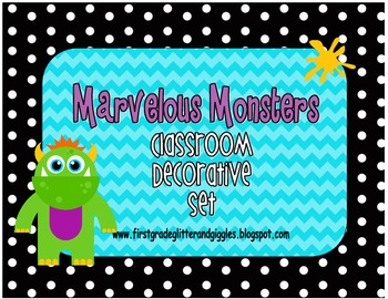 Marvelous Monsters Classroom Decorative Set