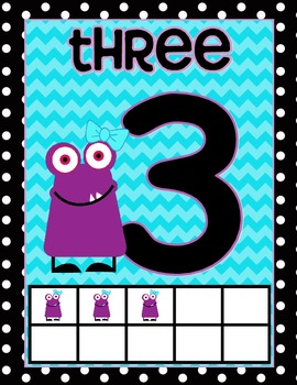 Marvelous Monsters Classroom Number Signs