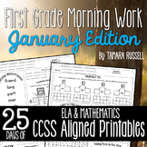 First Grade Morning Work: January Edition {Common Core Aligned}