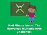 Marvelous Multiplication Challenge - Mad Minute Math