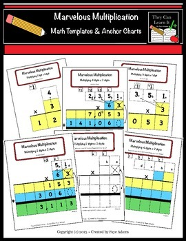 Marvelous Multiplication Math Templates & Anchor Charts
