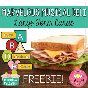 Marvelous Musical Deli - Large Form Cards FREEBIE