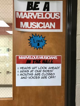 Marvelous Musician Behavior (PBIS) and Grading rubric posters