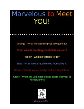 Marvelous to Meet YOU!