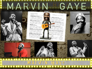 Marvin Gaye: 25 slides with text, hyperlinks, primary sour