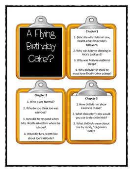 Marvin Redpost A FLYING BIRTHDAY CAKE? - Discussion Cards