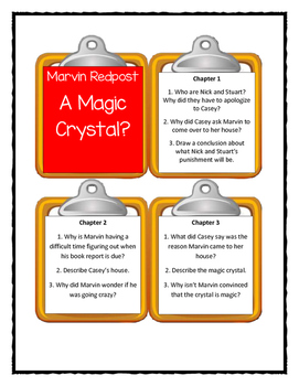 Marvin Redpost A MAGIC CRYSTAL? - Discussion Cards