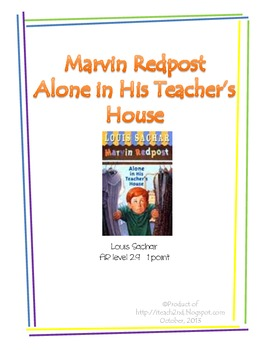 Marvin Redpost Alone in His Teacher's House by Louis Sachar