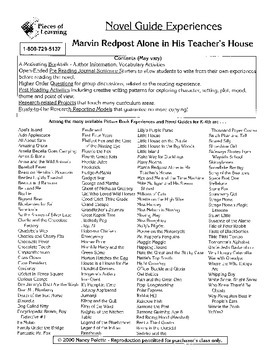 Marvin Redpost Alone in his Teacher's House Literature Guide