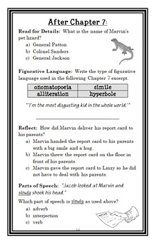 Marvin Redpost BUNDLE (Louis Sachar) 3 Novel Studies / Reading Comprehension