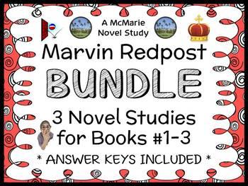 Marvin Redpost BUNDLE (Louis Sachar) 3 Novel Studies / Rea