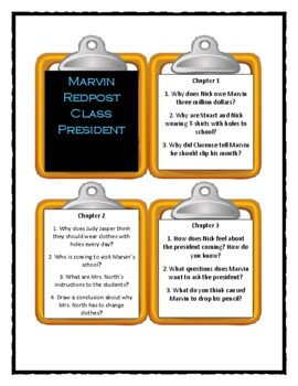 Marvin Redpost CLASS PRESIDENT - Discussion Cards