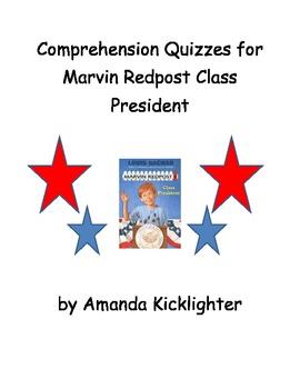 Marvin Redpost Class President Comprehension Quizzes