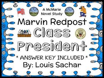 Marvin Redpost: Class President (Louis Sachar) Novel Study / Comprehension