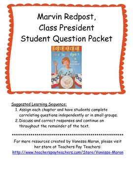 Marvin Redpost, Class President Student Question Packet