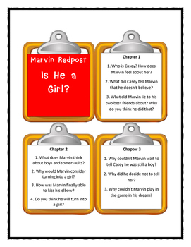 Marvin Redpost IS HE A GIRL? - Discussion Cards