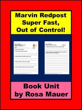Marvin Redpost Super Fast Out of Control Book Unit