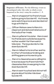 Marvin Redpost: Super Fast, Out of Control! (Louis Sachar) Novel Study