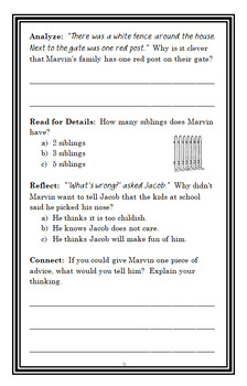 Marvin Redpost: Why Pick on Me? (Sachar) Novel Study / Reading Comprehension