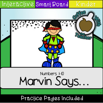Marvin Says Numbers 1-10 (SMART notebook)