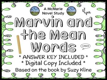 Marvin and the Mean Words (Suzy Kline) Novel Study / Comprehension (24 pages)