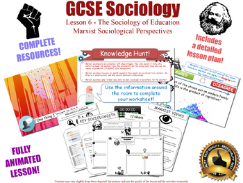 Marxist Perspectives - The Sociology of Education (GCSE Sociology L6/20)