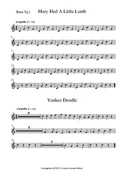 Mary And Yankee For Orff Orchestra