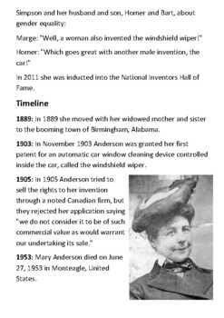 Mary Anderson Handout