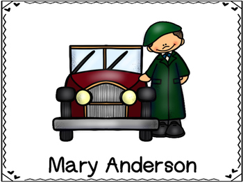 Mary Anderson  Inventor (Windshield Wipers)