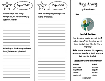 Mary Anning Trifold - ReadyGen 2016 4th Grade Unit 1 Module B