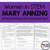Mary Anning - Women in STEM Differentiated Informational Text