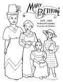 Mary Bethune Coloring Page