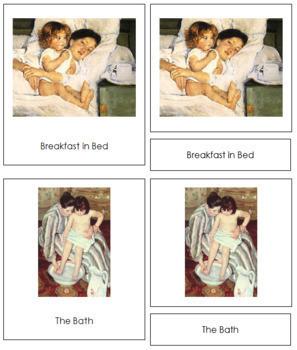 Cassatt (Mary) 3-Part Art Cards