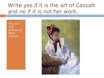 Mary Cassatt Power Point Assessment