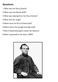 Mary Celeste Handout