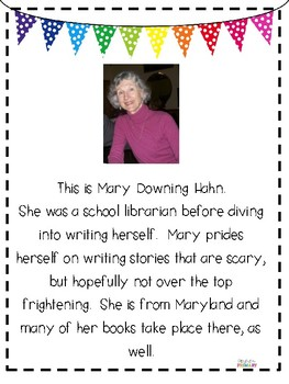 Mary Downing Hahn Author Study